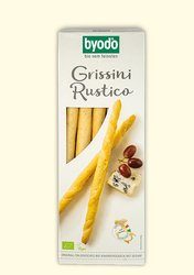 organic grissini rustico, thin crispy sticks with sesame, Byodo Naturkost