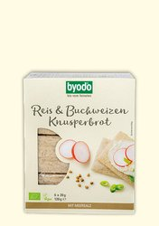 organic Crisp Bread with rice and buckwheat, Byodo Naturkost