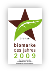 Organic brand of the year 2009 bronze