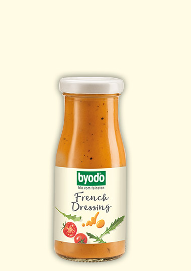 organic french dressing with tomatoes and apples, Byodo Naturkost
